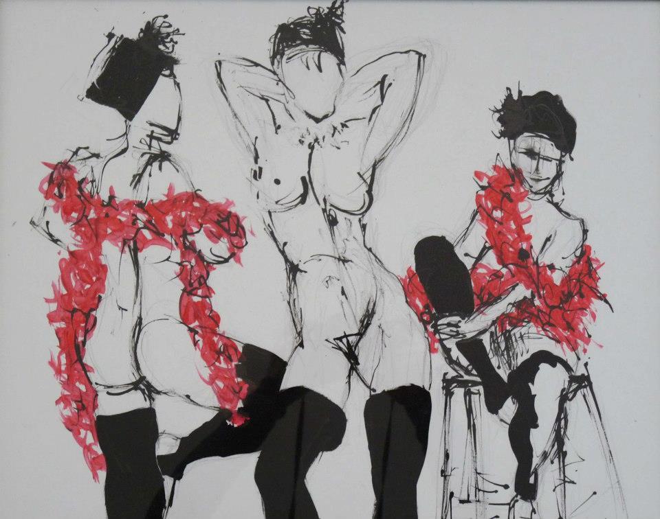 croquis-cabaret-encre-trio